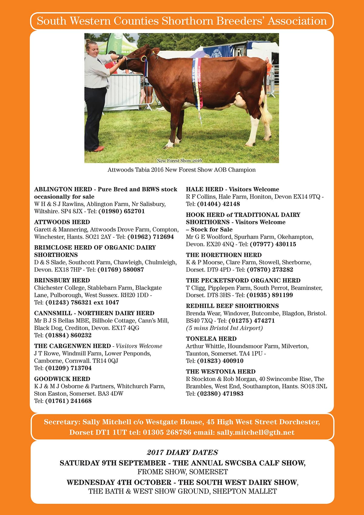 South Western Counties Shorthorn Breeders Association